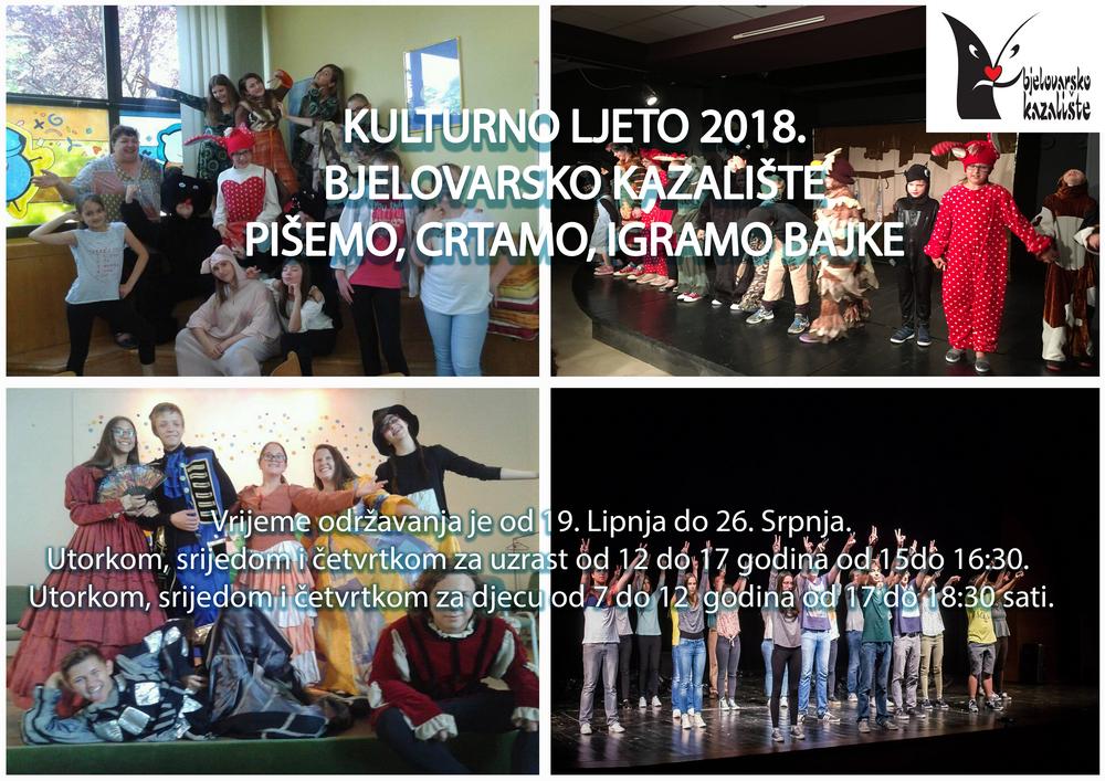 Trenutno pregledavate KULTURNO LJETO 2018. BJELOVARSKO KAZALIŠTE PIŠEMO, CRTAMO, IGRAMO BAJKE